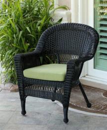 "36"" Black Resin Wicker Outdoor Patio Garden Chair With"