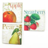 Pack of 6 Farm Fresh Apple, Strawberry & Pear Decorative ...