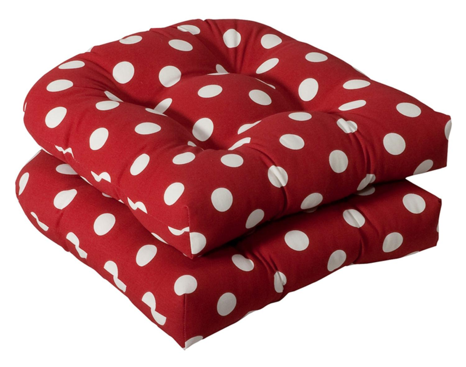 red outdoor chair pillows white resin with padded seat pack of 2 patio wicker cushions