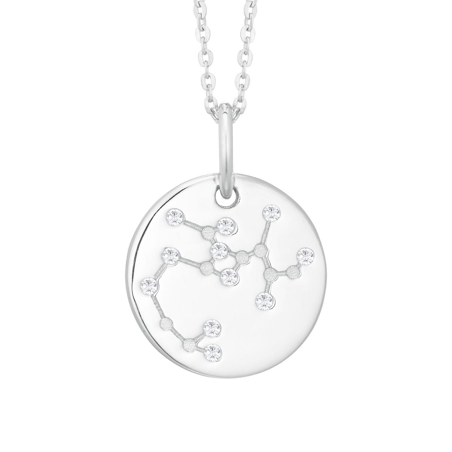 Silver Constellation Sagittarius 15mm Cubic Zirconia