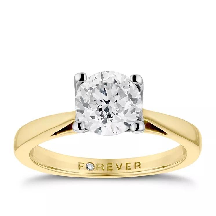 18ct Gold 1 Carat Forever Diamond Ring  HSamuel