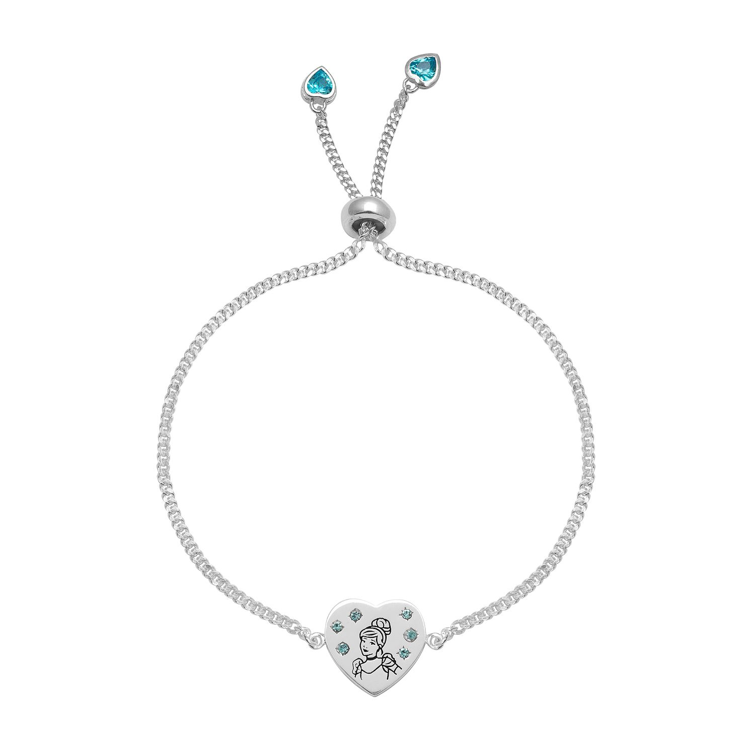 Disney Children's Cinderella Silver Adjustable Bracelet