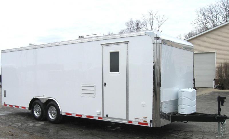 featherlite car trailer wiring diagram 2016 dodge dart speaker enclosed gooseneck living quarters
