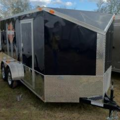 Trailer Wiring Diagram 4 Way Plug Biological Weathering Diamond Cargo 6x12 Tvrh Harley Enclosed With Slant V-nose | Southern Depot ...