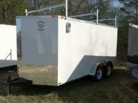 Diamond Cargo 7x14 Cargo Trailer Ladder Racks VNose ...