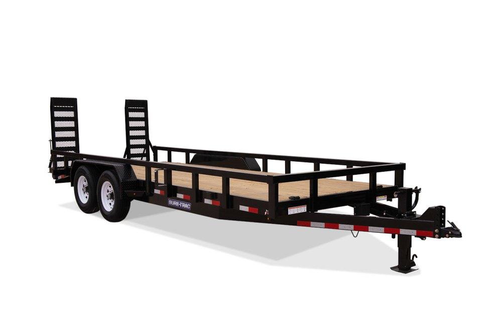 medium resolution of 2019 sure trac 7 x 18 14k heavy duty equipment trailer 2020714
