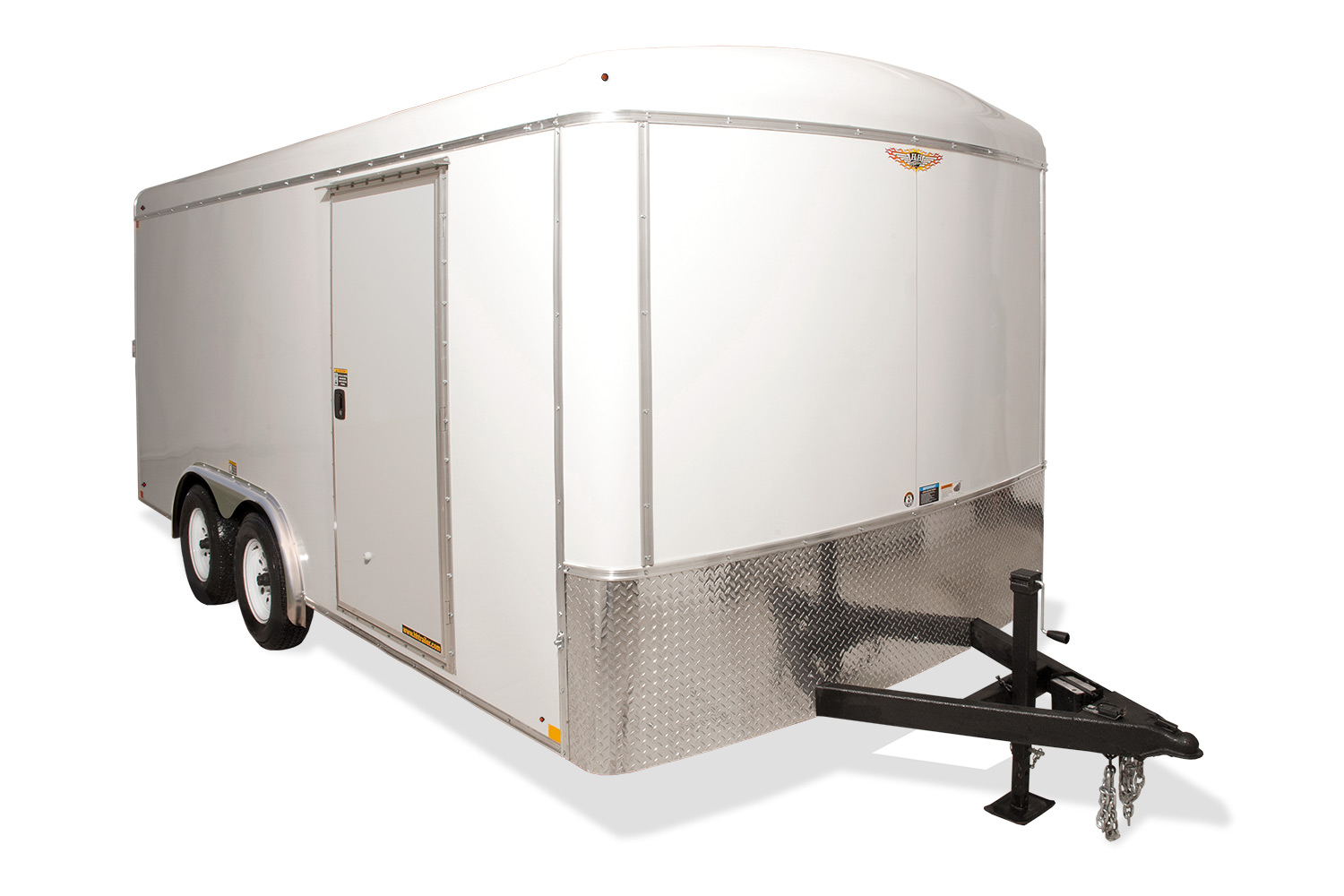 hight resolution of 2020 h and h trailer 7x16 tandem rnd top hh vnose 7k cargo