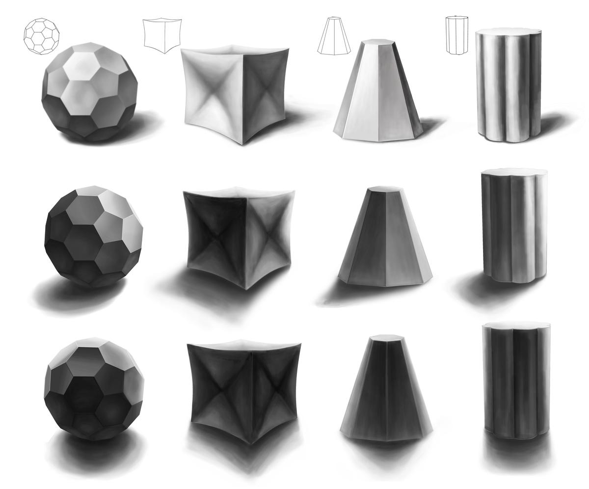 Shading A Variation Of Basic Shapes