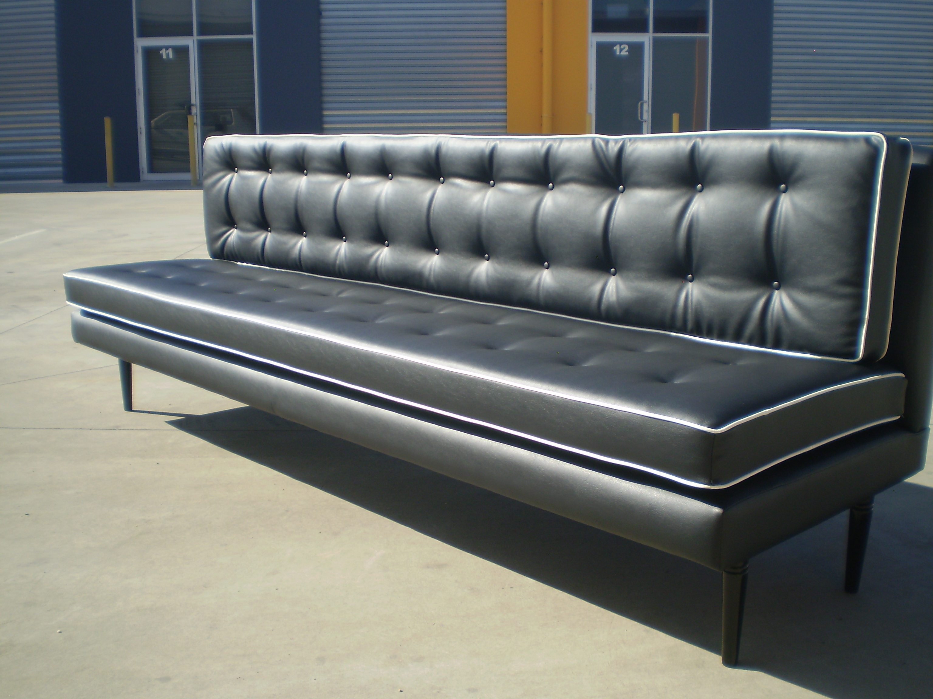 restaurant sofa booth seating black sofas uk 1950 39s or banquette and seat melbourne jaro
