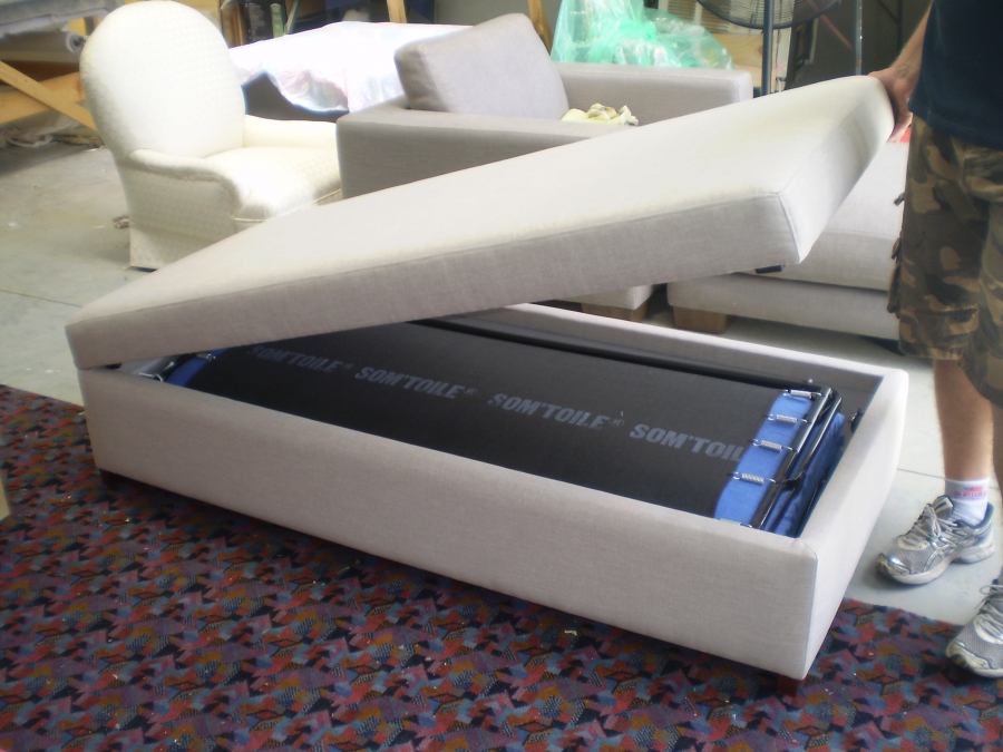 delta storage sofa bed banquette canada jaro makes beds and ottomans with a fold out ...