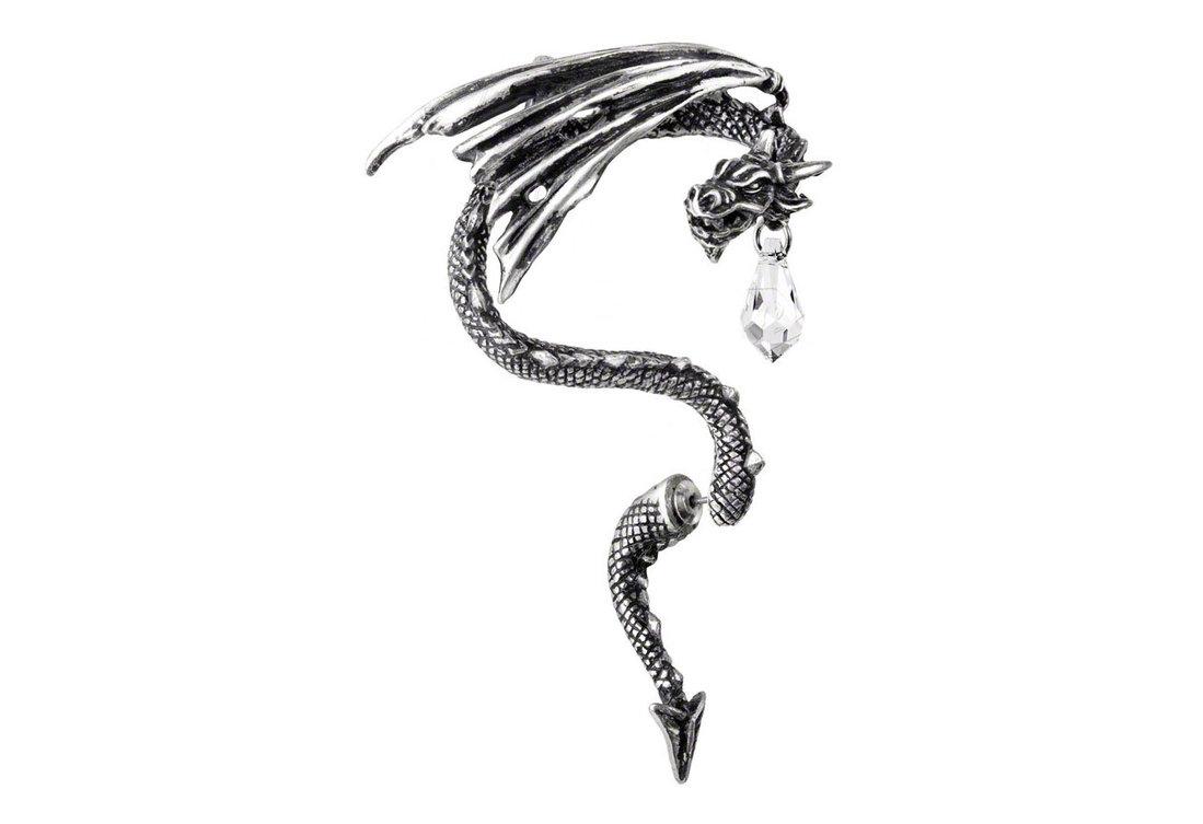 Crystal Dragon Earring Cuff