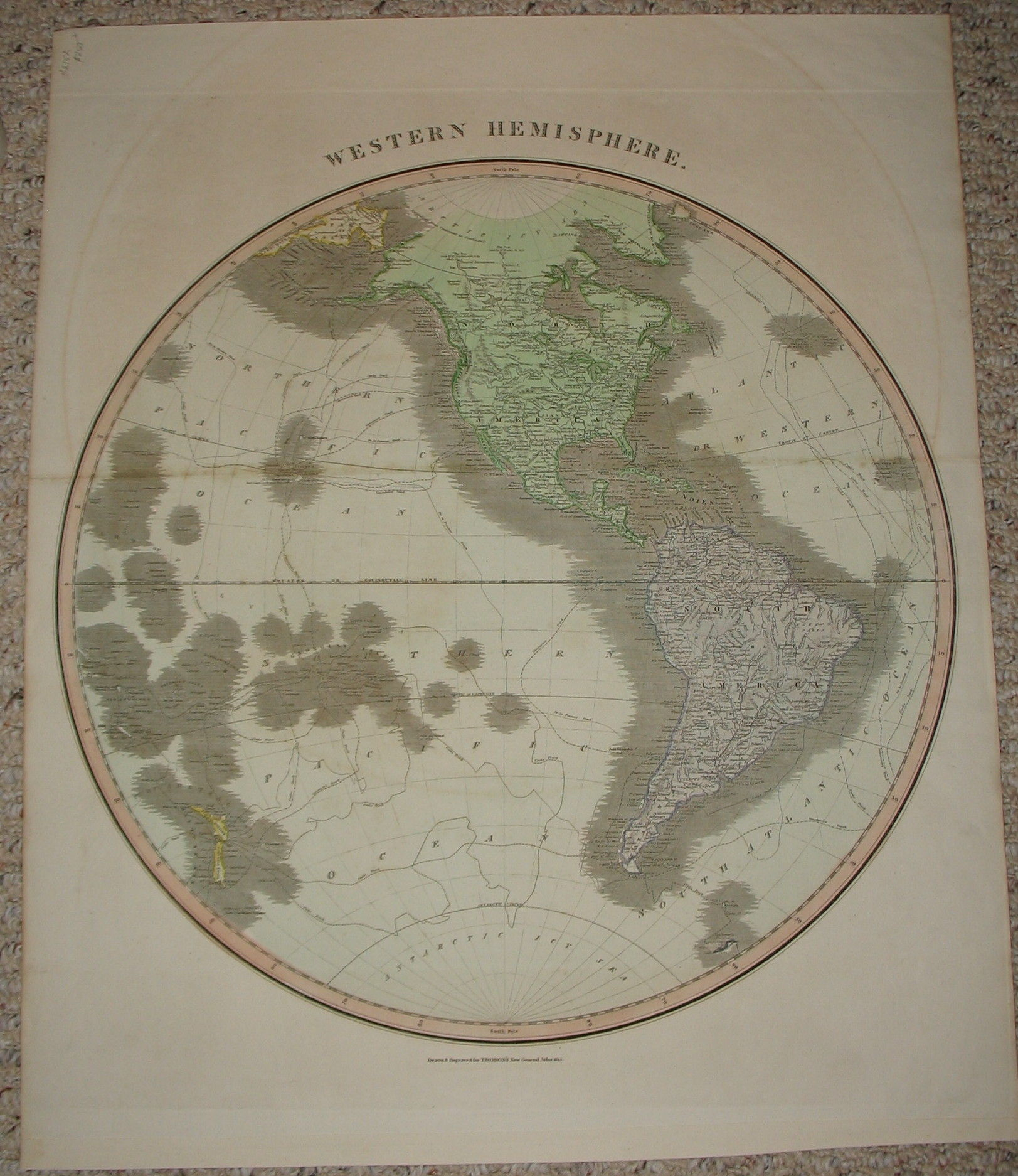 Map Of North And South America Western Hemisphere By