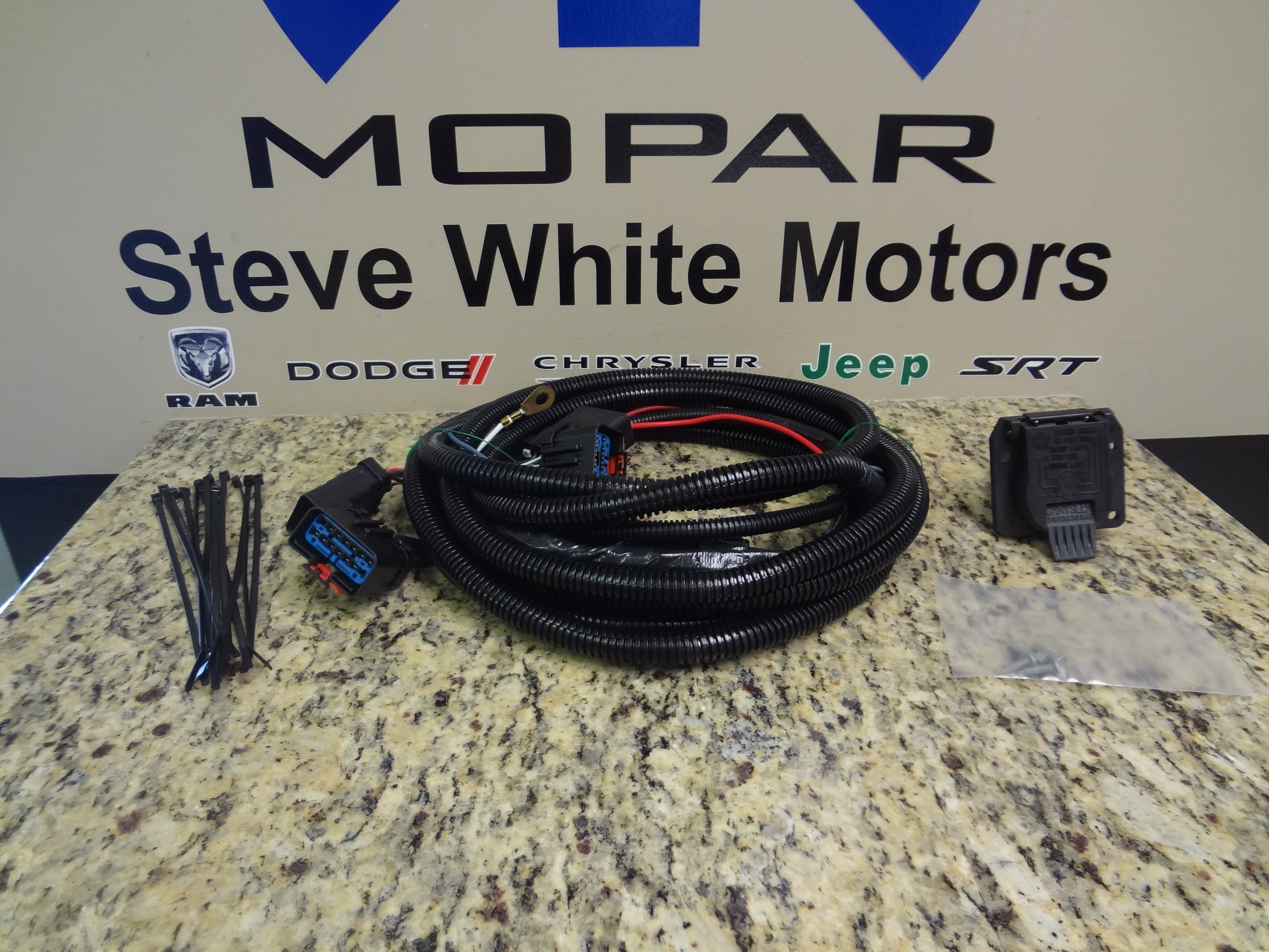small resolution of trailer tow wire harness kit with 7 way