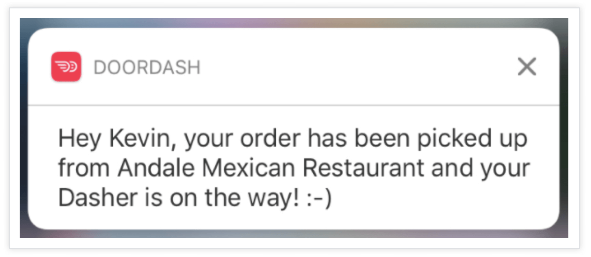 Doordash-Push-Notification