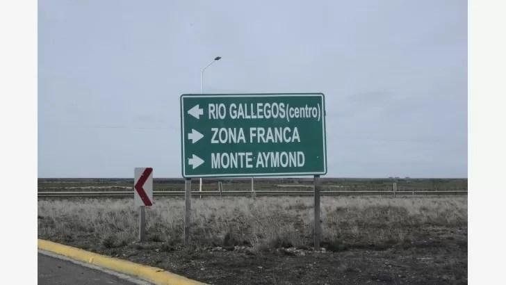 Camino hacia la Zona Franca. FOTOS: JOSÉ SILVA/LA OPINIÓN AUSTRAL