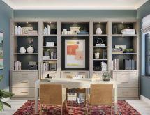 Home Library Custom Bookcases & Shelves California Closets