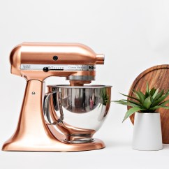Copper Kitchen Aid American Made Knives Custom Metallic Series 5 Qt Tilt Head Stand Mixer Zola