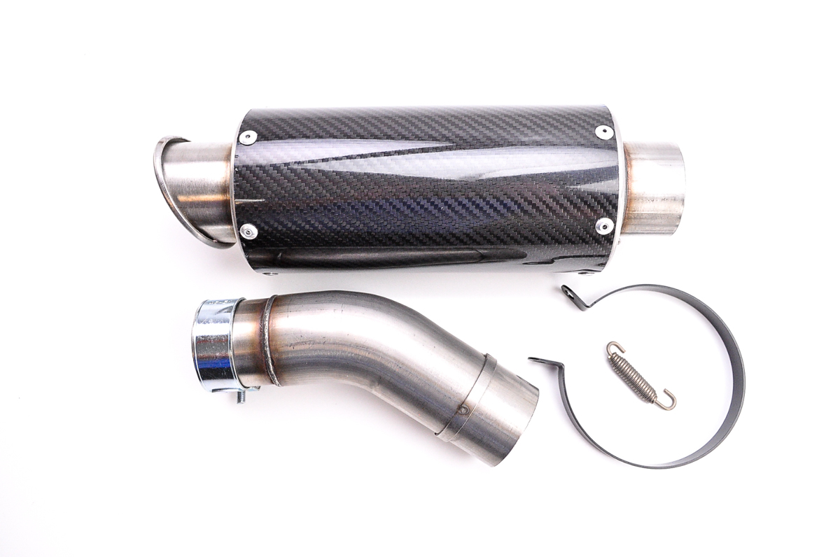 Hotbodies MGP Growler Slip-On Muffler, Carbon Fiber