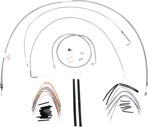 Burly Brand Extended Cable/Brake Line Kit for 18