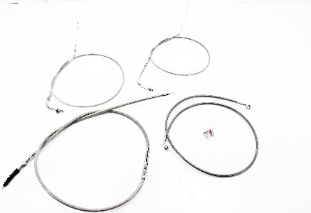 Baron Stainless Handlebar Cable and Line Kit Standard Bar