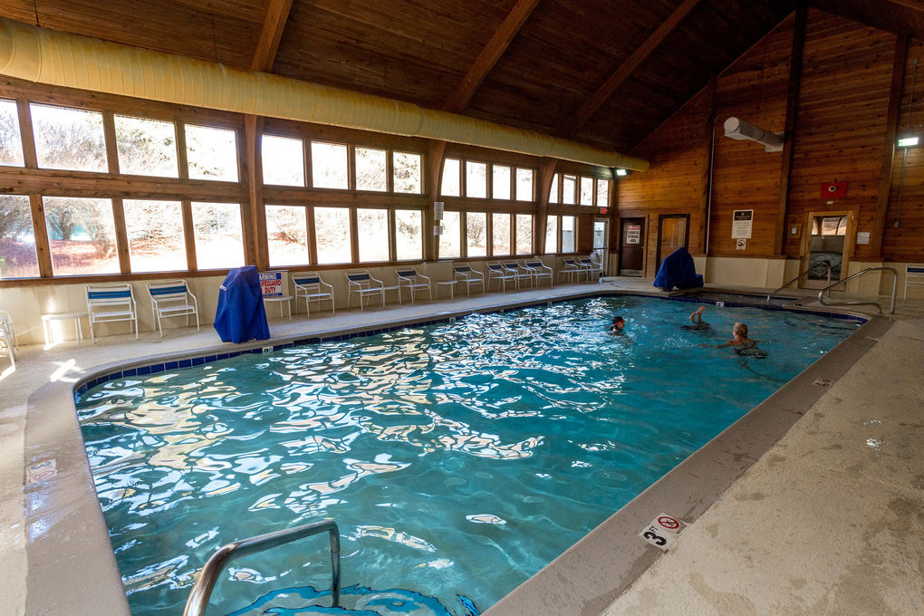 Rumbling Bald Resort On Lake Lure The Indoor Pool At The