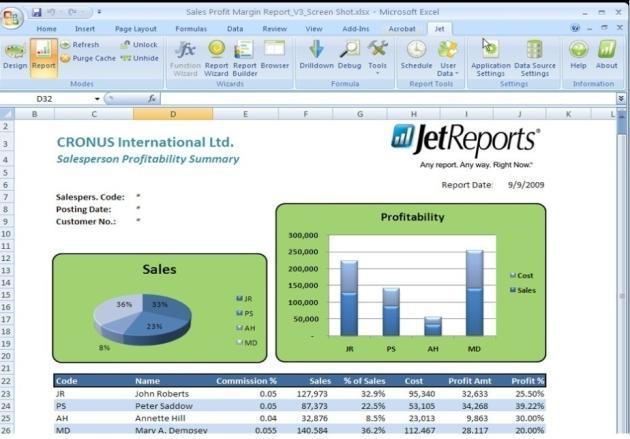 Pomoc w konfiguracji Jet Reports dla Microsoft Dynamics NAV