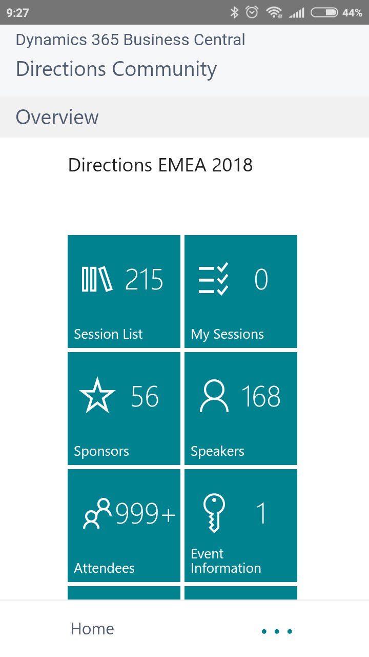 Directions EMEA 2018 - Business Central Application