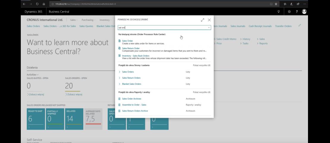 Nowy interfejs użytkownika w Dynamics 365 Business Central