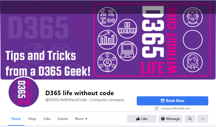 D365 Life without code on Facebook