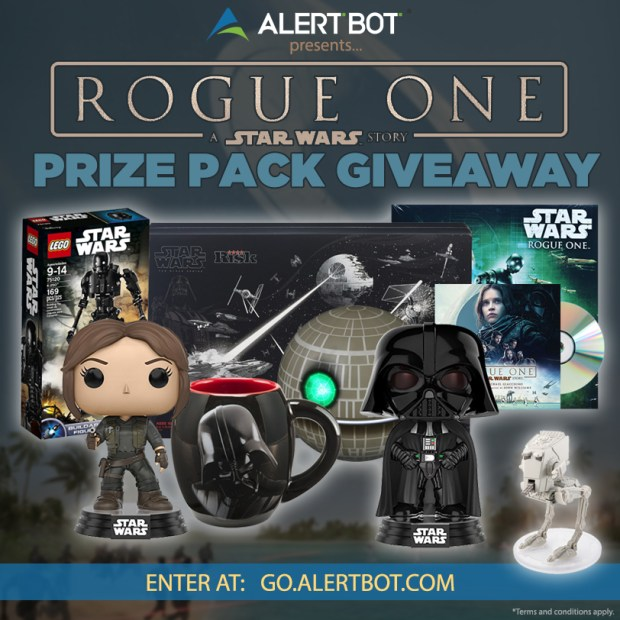 AlertBot Presents STAR WARS: ROGUE ONE Prize Pack Giveaway!