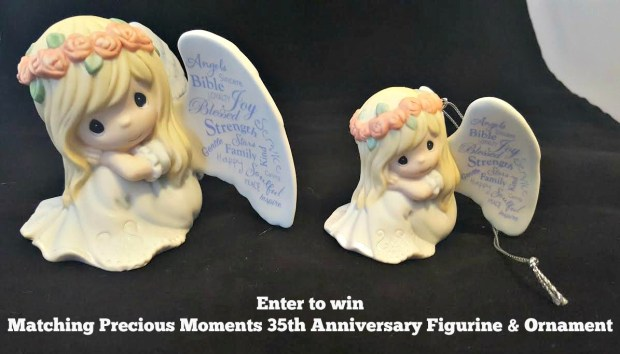 Precious Moments Angel Figurine & Matching Ornament