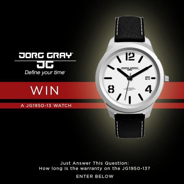 WIN! A Jorg Gray Watch!