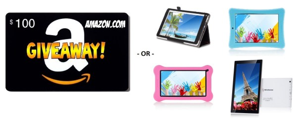 Amazon $100 Gift Card OR Android Tablet