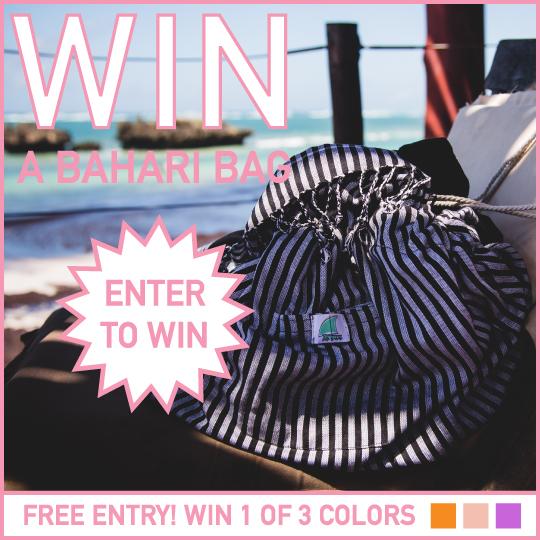 Enter to win 1 of 3 Bahari Bags!