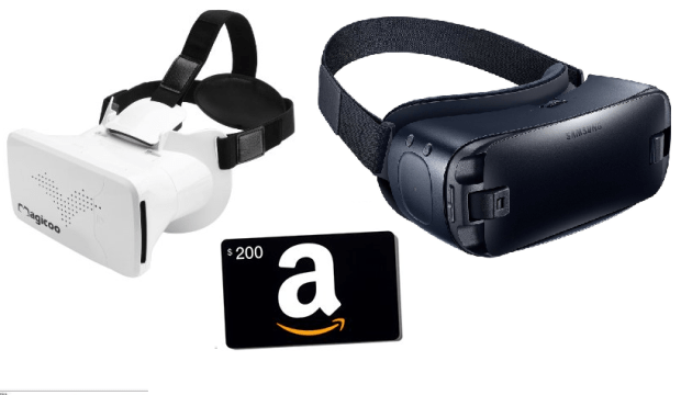 Win a $200 Amazon Gift Card or 1 Of 3 VR Headsets
