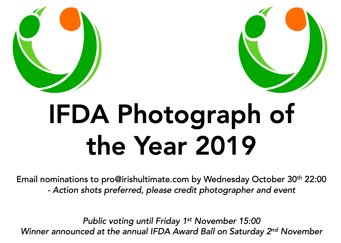 Nominations for IFDA Photograph of the Year 2019 - Irish Flying Disc Association