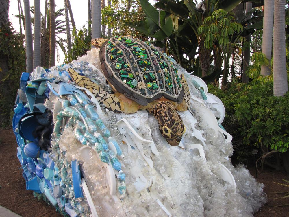 The extent of marine pollution is overwhelming but art