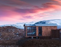 Iceland Northern Lights Cabins Glass