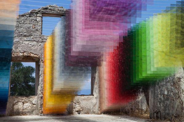 Art Installation In Paxos Greece Ruins Burst Of Color