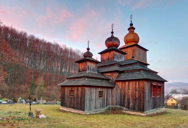 Interior Wooden Church Slovakia Greek Catholic - Year of