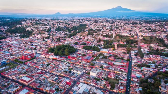 Aerial view of Tlaxcala, Mexico