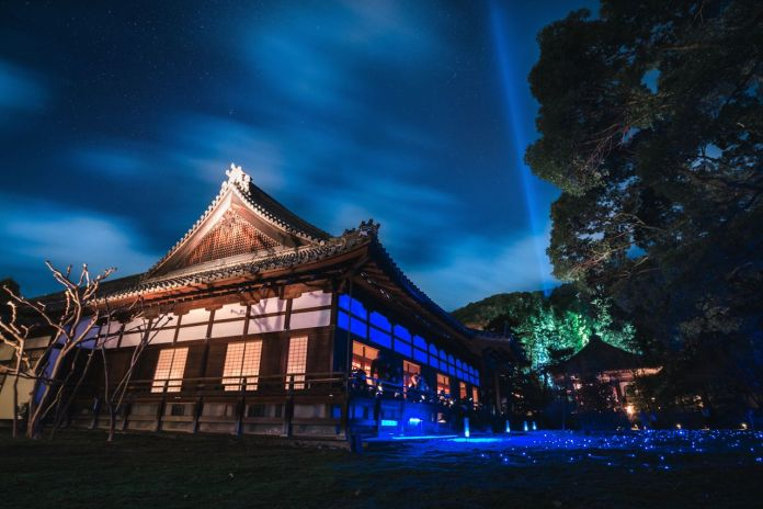 Shorenin Temple light up 2017 Kyoto Japan