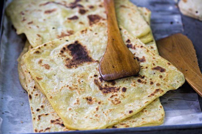 square Moroccan flatbread