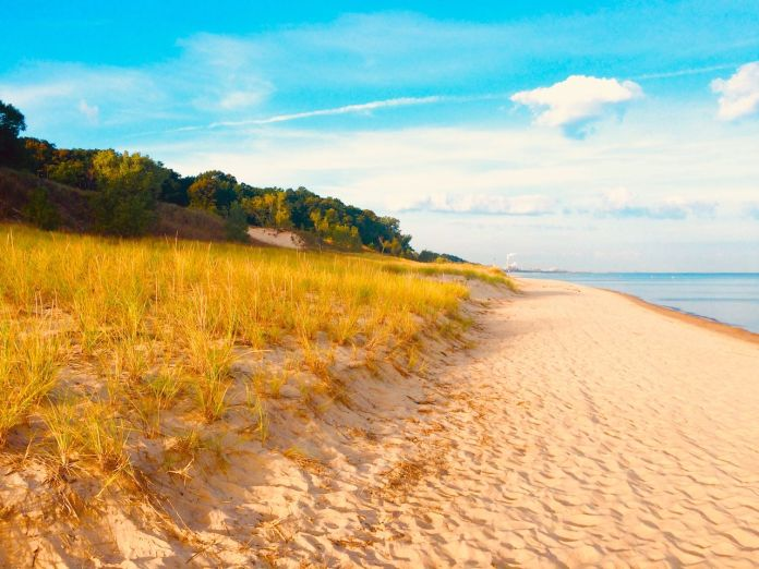 Golden Beachfront, Indiana Dunes