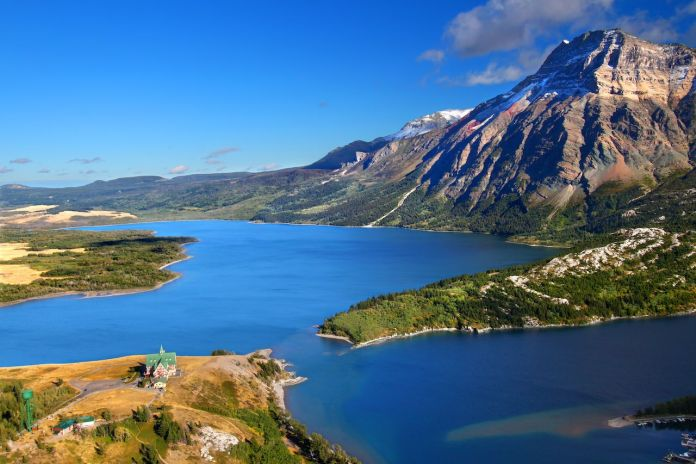 Waterton Lakes National Park in Canada seen from the Hump Bears
