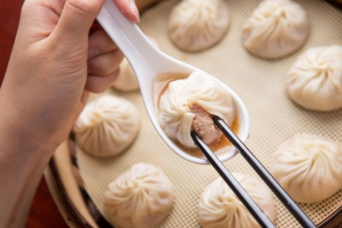 Xiaolongbao on plate dimsum