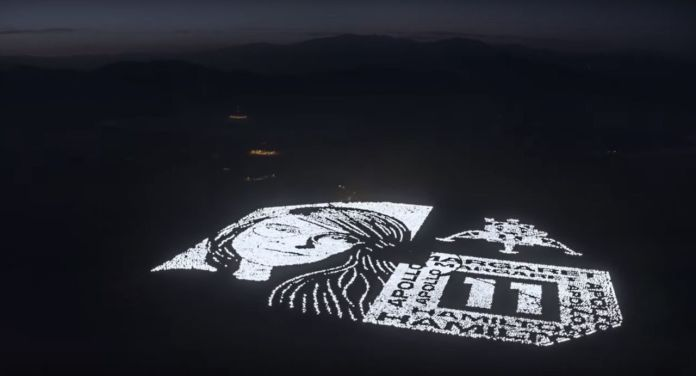 Magaret Hamilton art installation in Mojave Desert