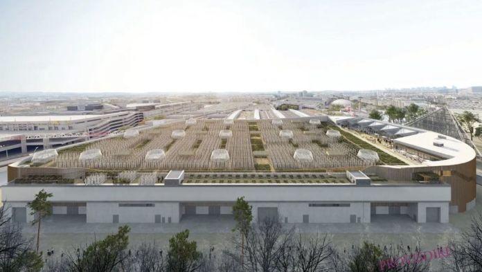 Urban farm in Paris on rooftop