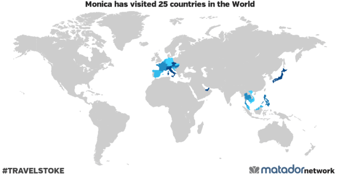 Monica's Travel Map