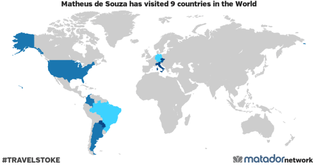 Matheus de Souza's Travel Map